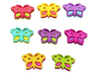 scrapbooking & paper crafts: Jesse James Dress It Up Embellishments Button Fun Butterfly