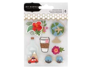 Pebbles Collection Jen Hadfield Chasing Adventures Sticker 3D Gold Foil