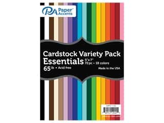 Paper Accents Cardstock Variety Pack 5 x 7 in. 65# Essential 72 pc.