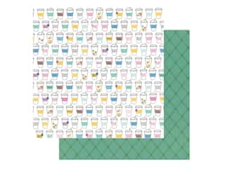 scrapbooking & paper crafts: Pebbles Collection Hen Hadfield Chasing Adventures Paper 12 in. x 12 in. Sip Sip (25 pieces)