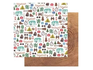 Pebbles Collection Hen Hadfield Chasing Adventures Paper 12 in. x 12 in. The Great Outdoors (25 pieces)