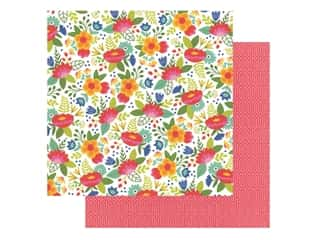 Pebbles Collection Hen Hadfield Chasing Adventures Paper 12 in. x 12 in. Fiesta Flower (25 pieces)