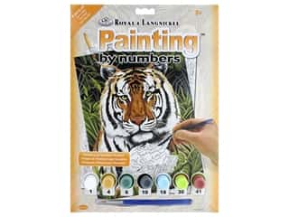 Small paint brush: Royal Paint By Number Junior Small Tiger In Hiding