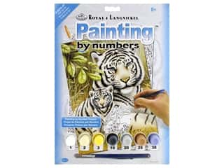 craft & hobbies: Royal Paint By Number Junior Small White Tiger Pair