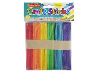 craft & hobbies: Creative Arts Craft Sticks 4.5 in. 150 pc Assorted Colors
