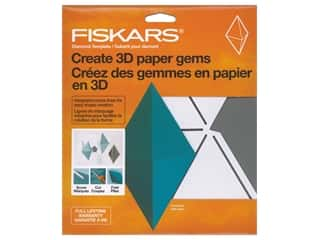 scrapbooking & paper crafts: Fiskars Template 3D Paper Gem Diamond