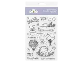 stamp cleared: Doodlebug Doodle Stamp Clear Spring Flower Girl