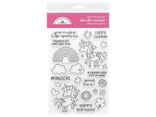 stamp cleared: Doodlebug Doodle Stamp Clear St Patrick Rainbows & Unicorns