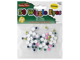 craft & hobbies: Creative Arts Wiggle Eyes Round 7 mm 50 pc Assorted