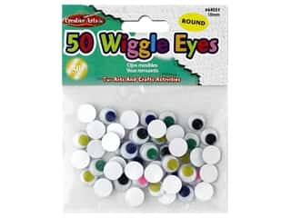 craft & hobbies: Creative Arts Wiggle Eyes Round 10 mm 50 pc Assorted