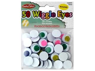 Creative Arts Wiggle Eyes Round 15 mm 50 pc Assorted