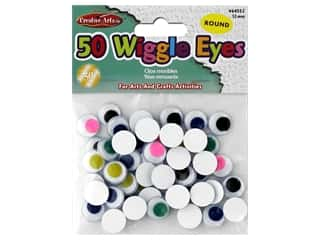craft & hobbies: Creative Arts Wiggle Eyes Round 12 mm 50 pc Assorted