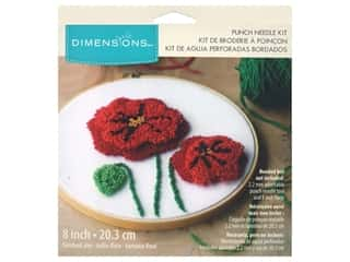 Dimensions Punch Needle Kit 8 in. Poppies