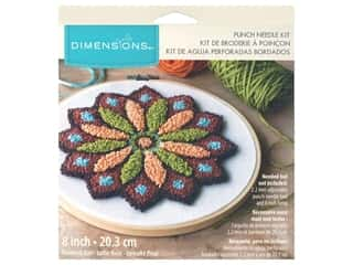 yarn & needlework: Dimensions Punch Needle Kit 8 in. Mandala