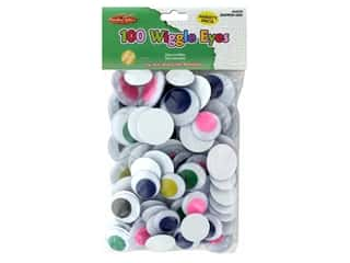 Creative Arts Wiggle Eyes Round Jumbo 100 pc Assorted