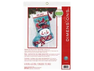 projects & kits: Dimensions Needlepoint Kit - Seasonal Snowman Stocking