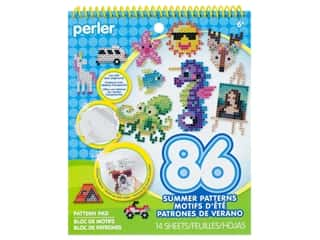 beading & jewelry making supplies: Perler Fused Bead Pattern Pad Summertime Fun