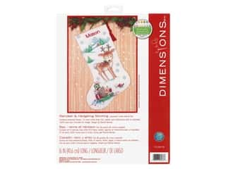 Dimensions Counted Cross Stitch Kit Reindeer & Hedgehog Stocking