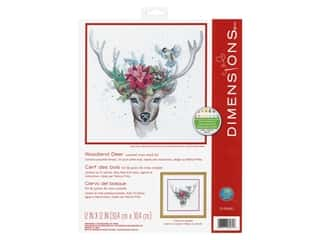 yarn & needlework: Dimensions Counted Cross Stitch Kit 12 x 12 in. Woodland Deer