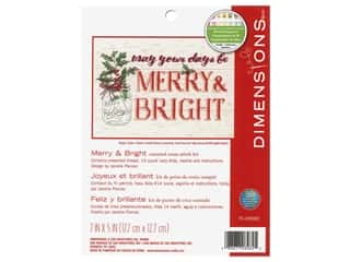 yarn & needlework: Dimensions Counted Cross Stitch Kit 7 x 5 in. Merry & Bright