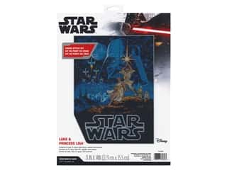 yarn & needlework: Dimensions Cross Stitch Kit 11 in. x 14 in. Luke & Princess Leia