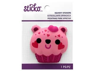 scrapbooking & paper crafts: Sticko Squishy Stickers - Bear Cupcake