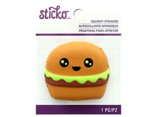 EK Sticko Stickers Squishy Hamburger