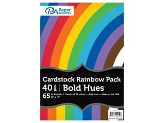 scrapbooking & paper crafts: Paper Accents Rainbow Variety Pack 5 in. x 7 in. Cardstock 65 lb Bold Hues 40 pc (3 sets)