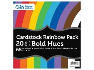 Paper Accents Rainbow Variety Pack 12 in. x 12 in. Cardstock 65 lb Bold Hues 20 pc (3 sets)