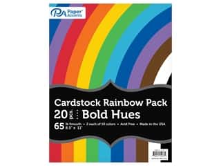 scrapbooking & paper crafts: Paper Accents Rainbow Variety Pack 8.5 in. x 11 in. Cardstock 65 lb Bold Hues 20 pc (3 sets)