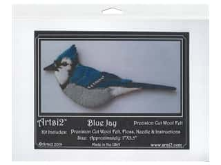 yarn & needlework: Artsi2 Wool Felt Kit Blue Jay Ornament Kit