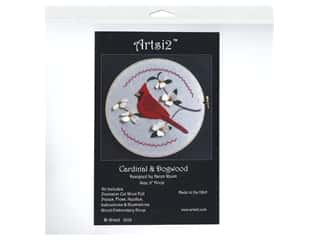 Artsi2 Hooped Wool Felt Kit Cardinal & Dogwood