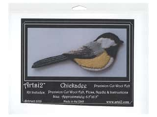 Artsi2 Wool Felt Kit Chickadee Ornament Kit