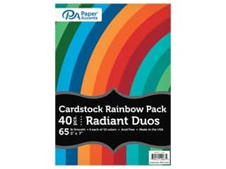 scrapbooking & paper crafts: Paper Accents Cardstock Variety Pack 5 in. x 7 in. Rainbow 65 lb Radiant Duo 40 pc (3 sets)