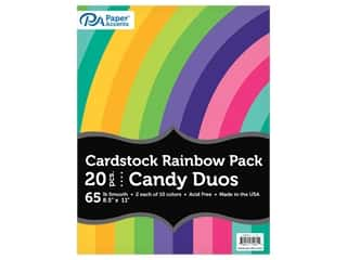 scrapbooking & paper crafts: Paper Accents Cardstock Variety Pack 8.5 in. x 11 in. Rainbow 65 lb Candy Duo 20 pc (3 sets)
