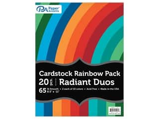 scrapbooking & paper crafts: Paper Accents Cardstock Variety Pack 8.5 in. x 11 in. Rainbow 65 lb Radiant Duo 20 pc (3 sets)