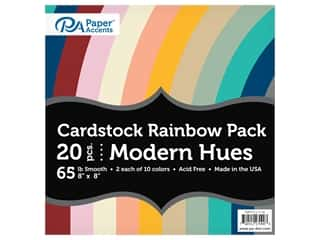 scrapbooking & paper crafts: Paper Accents Cardstock Variety Pack 8 in. x 8 in. Rainbow 65 lb Modern Hues 20 pc (3 sets)