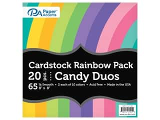 scrapbooking & paper crafts: Paper Accents Cardstock Variety Pack 8 in. x 8 in. Rainbow 65 lb Candy Duo 20 pc (3 sets)