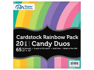 scrapbooking & paper crafts: Paper Accents Cardstock Variety Pack 12 in. x 12 in. Rainbow 65 lb Candy Duo 20 pc (3 sets)