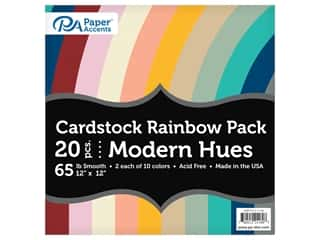 scrapbooking & paper crafts: Paper Accents Cardstock Variety Pack 12 in. x 12 in. Rainbow 65 lb Modern Hues 20 pc (3 sets)