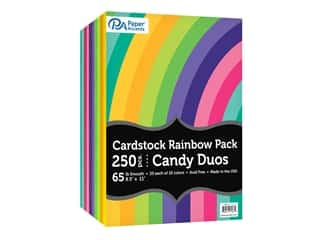 Paper Accents Cardstock Variety Pack 8.5 in. x 11 in. Rainbow 65 lb Candy Duo 250 pc