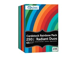 Paper Accents Cardstock Variety Pack 5 in. x 7 in. Rainbow 65 lb Radiant Duo 250 pc