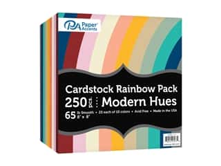 Paper Accents Cardstock Variety Pack 8 in. x 8 in. Rainbow 65 lb Modern Hues 250 pc