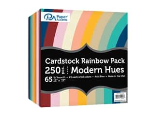 scrapbooking & paper crafts: Paper Accents Cardstock Rainbow Pack 12 x 12 in. Modern Hues 250 pc.