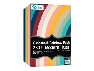 Paper Accents Cardstock Variety Pack 8.5 in. x 11 in. Rainbow 65 lb Modern Hues 250 pc