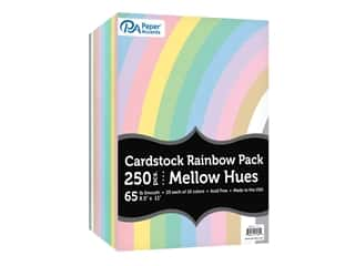 scrapbooking & paper crafts: Paper Accents Cardstock Variety Pack 8.5 in. x 11 in. Rainbow 65 lb Mellow Hues 250 pc