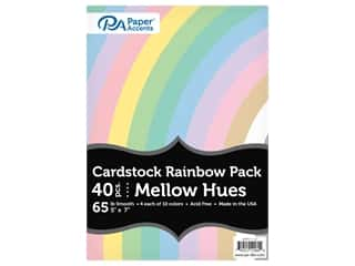 scrapbooking & paper crafts: Paper Accents Cardstock Variety Pack 5 in. x 7 in. Rainbow 65 lb Mellow Hues 40 pc (3 sets)