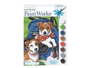 "Paint Works Paint By Number Kit Intermediate 9""x 12"" Back Pack Buddies"
