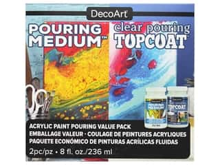 craft & hobbies: DecoArt Pouring Value Pack 8oz 2pc