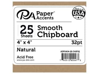 Paper Accents Chipboard 4 x 4 in. 32 pt. XL Heavy Natural 25 pc.
